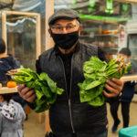 farmer holding produce