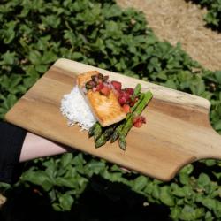 Seared Salmon with Strawberry Salsa
