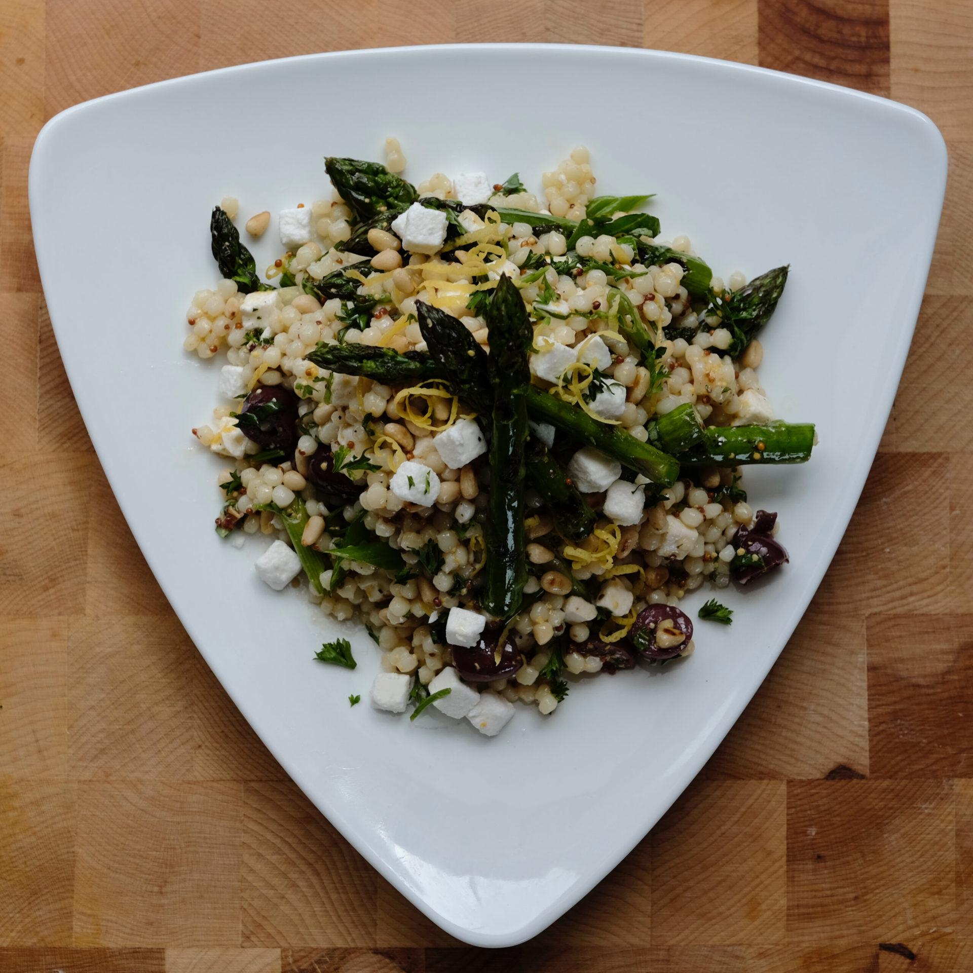 asparagus salad with feta